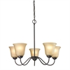 Cornerstone Conway 5 Light Chandelier In Oil Rubbed Bronze
