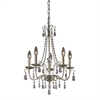Sterling Antique Silver Chandelier In Silver / Clear