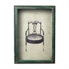 Sterling Picture Frame With French Antique Chair Print