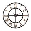 Metal Framed Roman Numeral Open Back Wall Clock