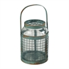 Sterling Glass & Metal Mesh Hurricane