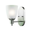 Cornerstone Jackson 1 Light Sconce In Brushed Nickel