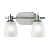 Jackson 2 Light Bath Bar In Brushed Nickel