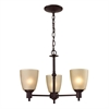 Cornerstone Jackson 3 Light Chandelier In Oil Rubbed Bronze