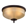 Jackson 2 Light Flush Mount In Oil Rubbed Bronze