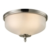 Cornerstone Jackson 2 Light Flush Mount In Brushed Nickel