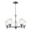 Cornerstone Jackson 5 Light Chandelier In Brushed Nickel