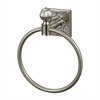 Sterling Towel Ring In Brushed Steel With Embossed Back Plate