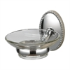 Sterling Soap Dish Holder In Chrome/ Glass