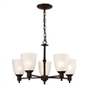 Cornerstone Jackson 5 Light Chandelier In Oil Rubbed Bronze