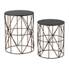 Sterling Bradfield-Set Of 2 Drum Side Tables