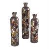 Sterling Rainbow-Set Of 3 Lacquered Floor Standing Vases