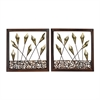 Sterling Delph-Set Of 2 Framed Metal Tulip Wall Panels