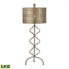 Metal LED Table Lamp in Gold Leaf