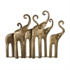 Papillion-Elephant Herd In Gold Leaf