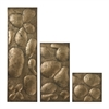 Sterling Ramsey Set Of 3 Wall Panels In Gold Leaf By
