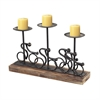 Sterling Altringham-Abstract Cyclist Candle Holders