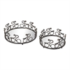 Altringham-Set Of 2 Abstract Cyclist Mirrored Trays