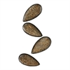 Ainsdale-Set Of 4 Hammered Metal Leaves.