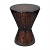 Inverrary-Bright Bronze Metal Accent Table With Glass Top