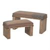 National-Set Of 2 Wooden Benches