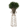 Sterling Oversized Planter In Gold Metal