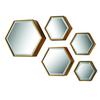 Hexagonal Beveled Mirror - Set of 5