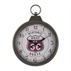 Sterling Fob Style Route 66 Clock