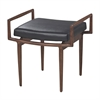 Sterling Blackinton Mid-Century Ottoman In Dark Cherry And Black By