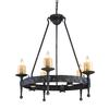 ELK lighting Cambridge 10 Light Chandelier In Moonlit Rust