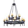 ELK lighting Cambridge 16 Light Chandelier In Moonlit Rust
