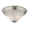 Kingston 2 Light Flush Mount In Brushed Nickel