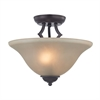 Cornerstone Kingston 2 Light Semi-Flush In Oil Rubbed Bronze