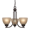 Kingston 3 Light Chandelier In Oil Rubbed Bronze