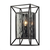 ELK lighting Cubix 1 Light Wall Sconce In Oiled Bronze And Clear Water Glass