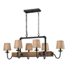 ELK lighting Early American 6 Light Chandelier In Vintage Rust