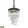Palacial 1 Light LED Pendant In Oil Rubbed Bronze
