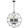 ELK lighting Yardley 6 Light Chandelier In Oil Rubbed Bronze
