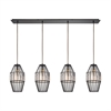 ELK lighting Yardley 4 Light Pendant In Oil Rubbed Bronze