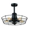 Glendora 5 Light Semi Flush In Wrought Iron Black