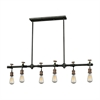 Jonas 6 Light Chandelier In Multi-Toned Weathered Finish