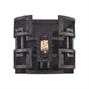 Garriston 1 Light Wall Sconce In Clay Iron