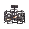 ELK lighting Garriston 3 Light Semi Flush In Clay Iron