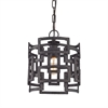 Garriston 1 Light Pendant In Clay Iron