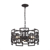 Garriston 3 Light Chandelier In Clay Iron