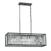 ELK lighting Nadina 4 Light Chandelier In Silverdust Iron