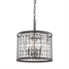 Nadina 4 Light Chandelier In Silverdust Iron