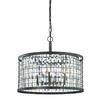 Nadina 6 Light Chandelier In Silverdust Iron