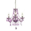 Sterling Theatre-3 Light Purple Mini Chandelier
