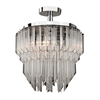Sterling Clear Acrylic Semi Flush